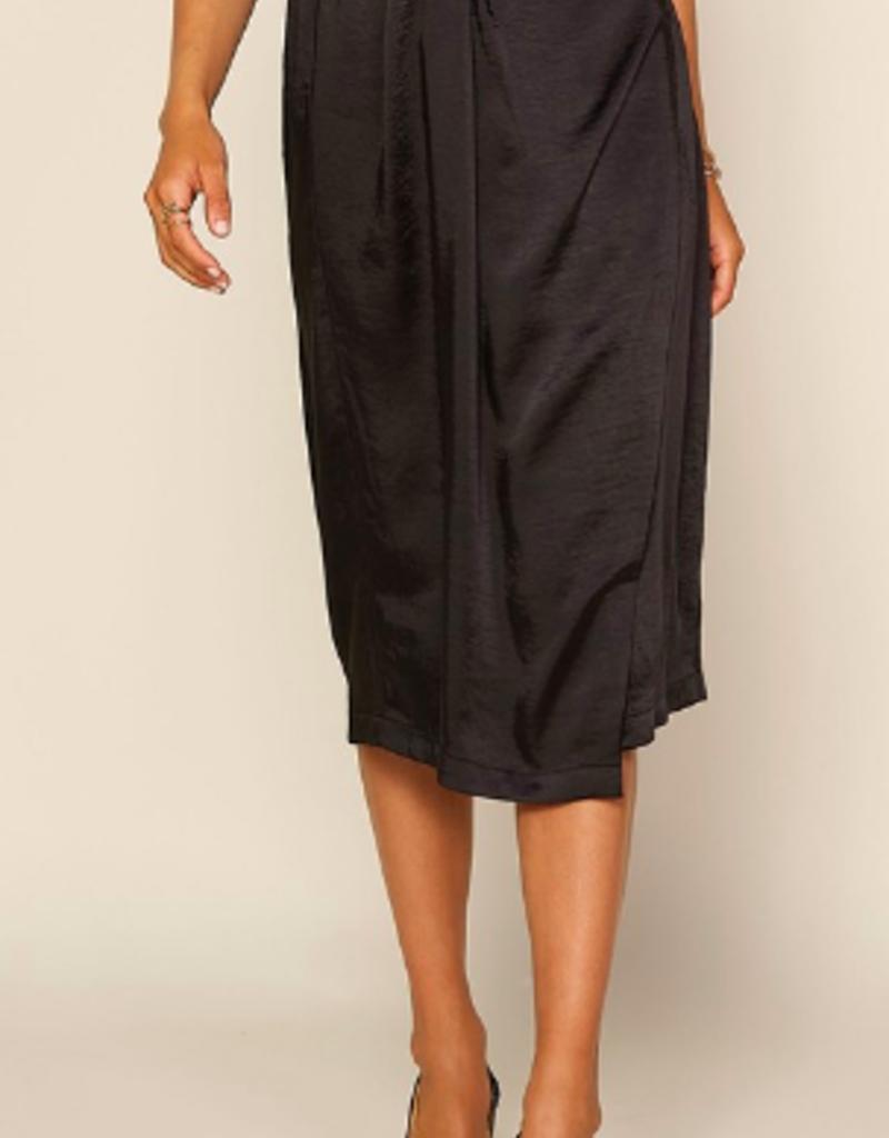 satin wrap skirt