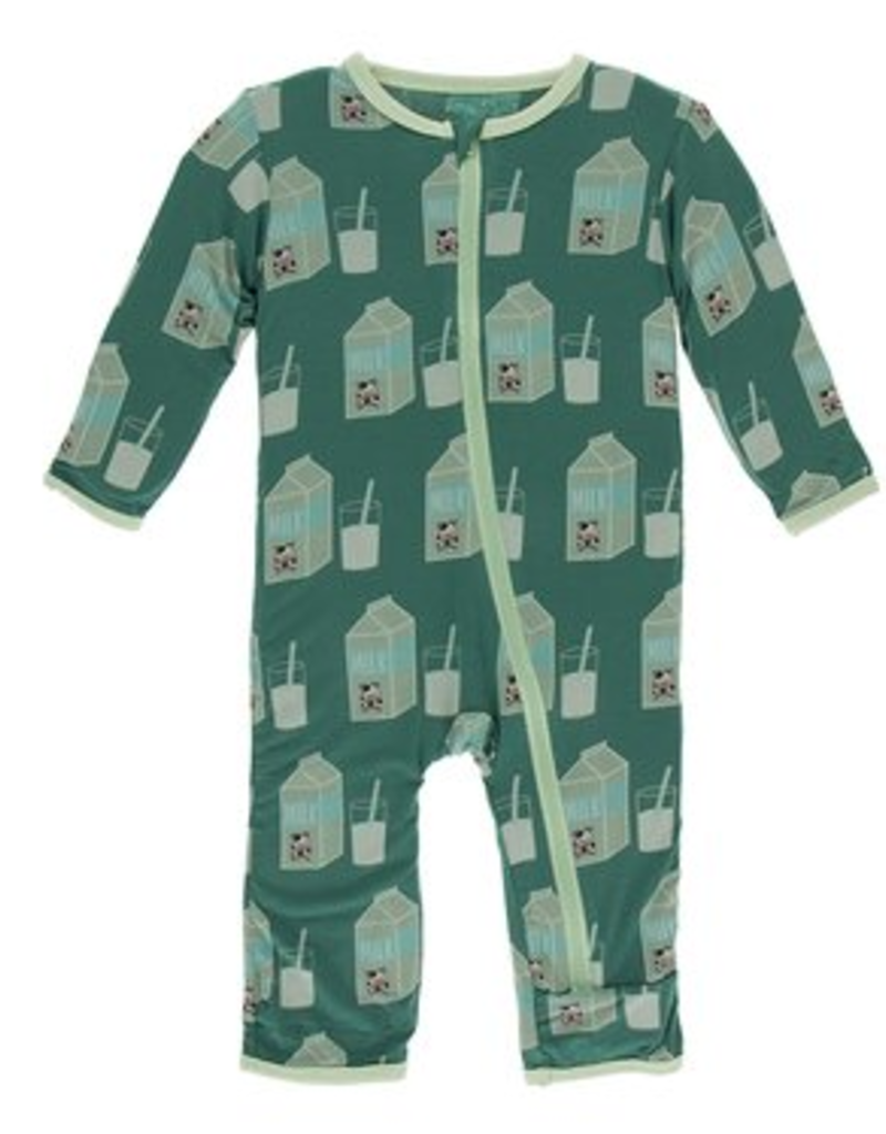 kickee pants ivy milk coverall with zipper