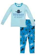 kickee pants amazon cowboy long sleeve pajama set