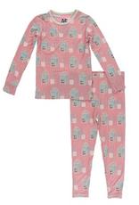 kickee pants strawberry milk long sleeve pajama set