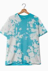 LivyLu lagoon blue reverse tie dye tee