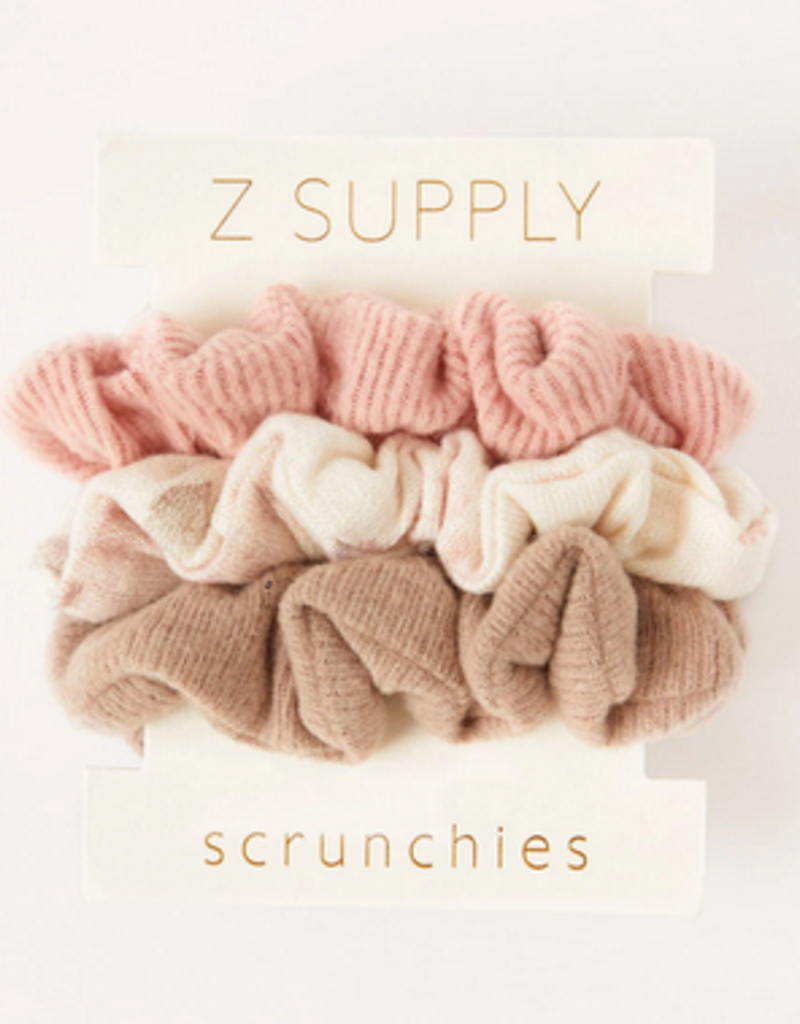 z supply set of 3 scrunchies- bone