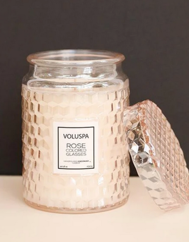 voluspa rose colored glasses large jar candle 18oz