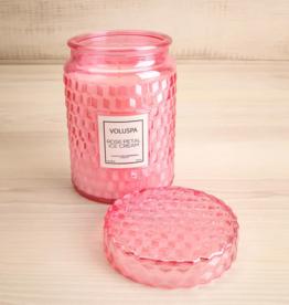 voluspa rose petal ice cream large jar candle 18oz