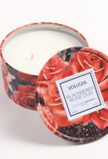 voluspa blackberry rose oud 6oz tin candle