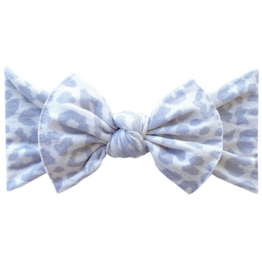 Baby Bling snow leopard printed knot