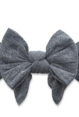 Baby Bling dang enormous bow stone washed charcoal
