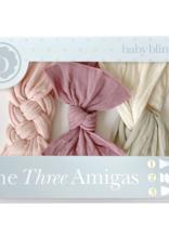 Baby Bling three amigas bow set rose quartz dot