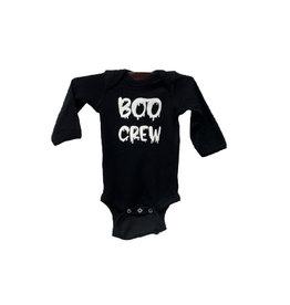 R+R boo crew long sleeve onesie