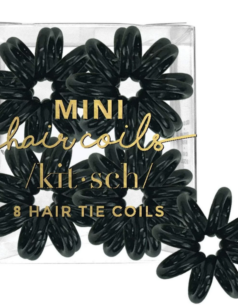 8 pack mini hair coils black
