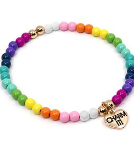 rainbow strech bead bracelet