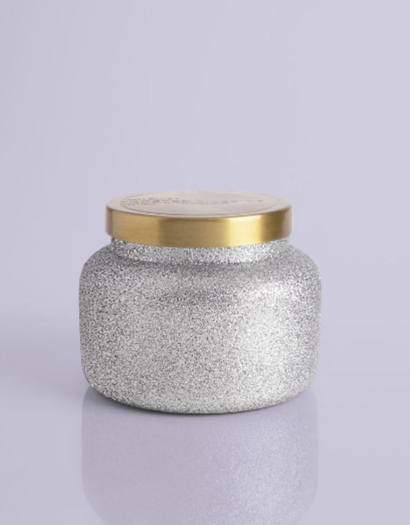 capri blue frosted fireside glam jar 19oz