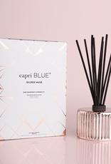capri blue pink grapefruit & prosecco gilded reed diffuser 7.75oz