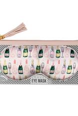 champagne eye mask & bag
