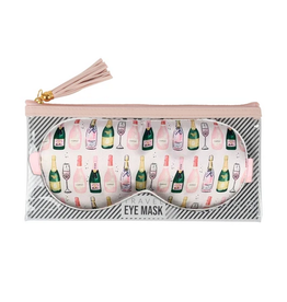 champagne eye mask & bag