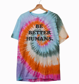 LivyLu be better humans tie dye tee