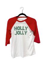 R+R holly jolly raglan