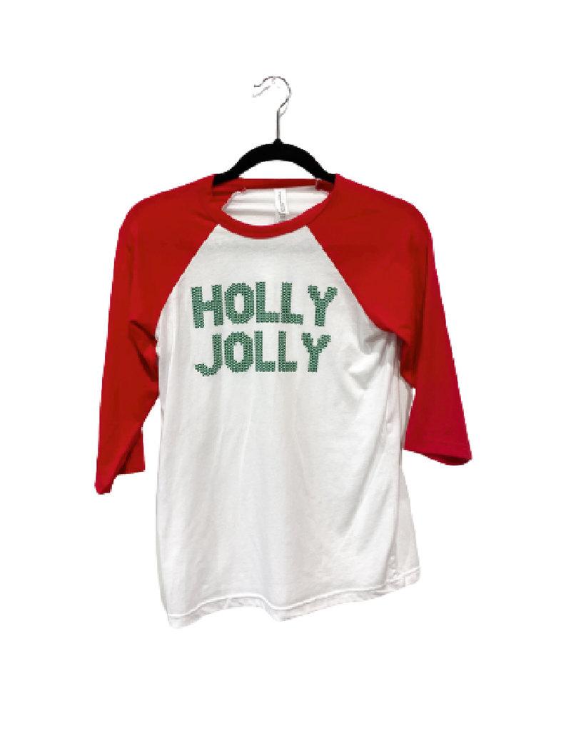 R+R holly jolly raglan final sale