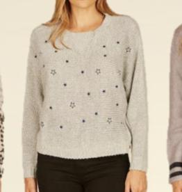 vintage havana embroidered star dolman sweater