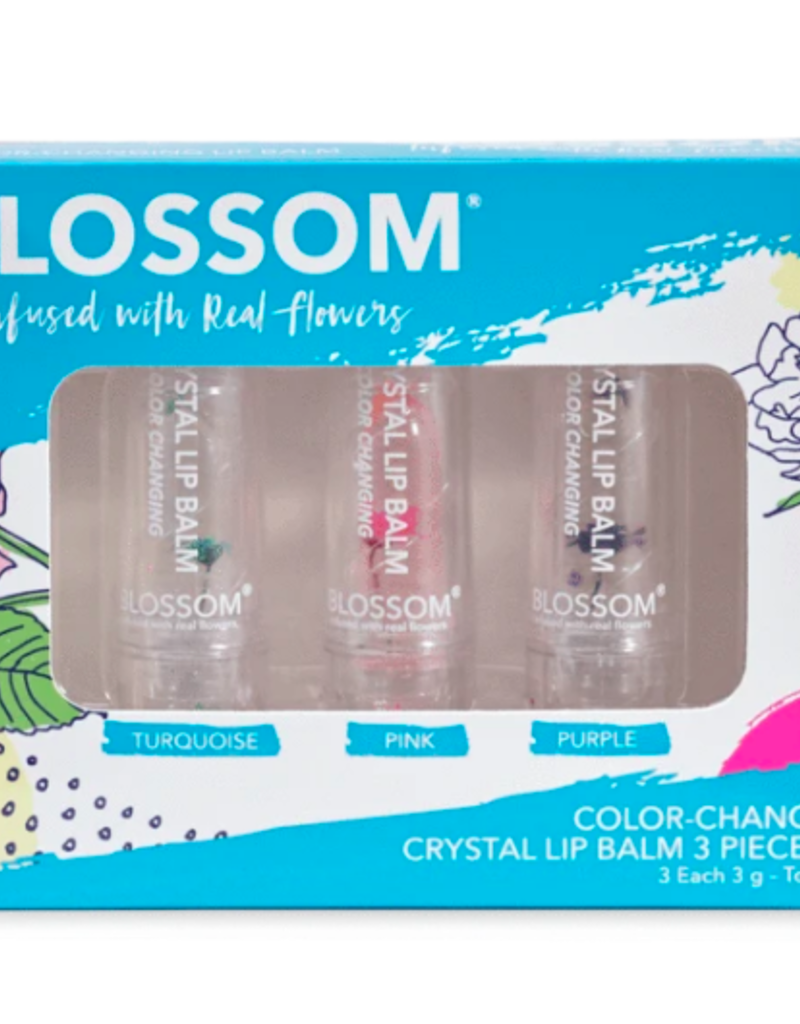3 piece set - color changing crystal lip balm