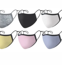 adult solid color silver ion mask