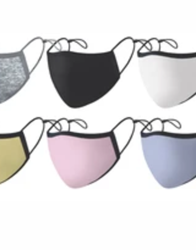 adult solid color silver ion mask final sale