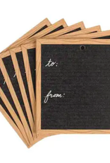 scratch on letter board gift set tags (set of 10)