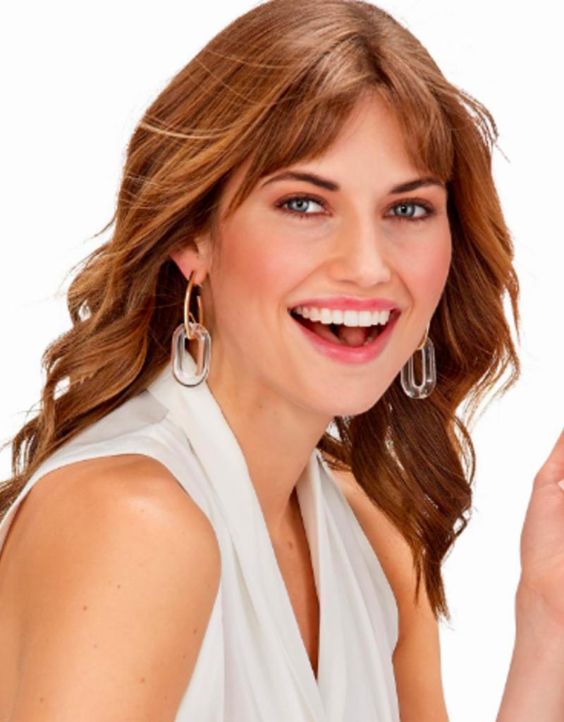two's company clear link resin earrings FINAL SALE