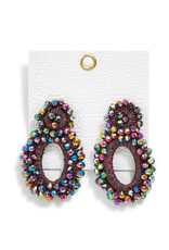two's company beaded statement earrings