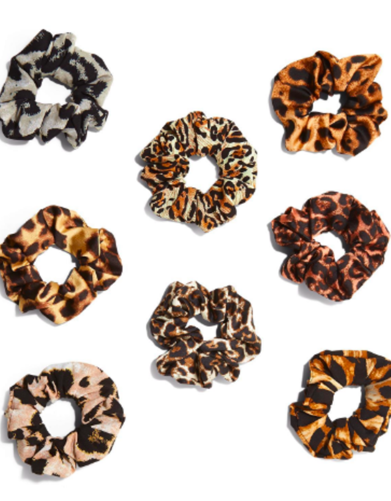 two's company leopard scrunchie