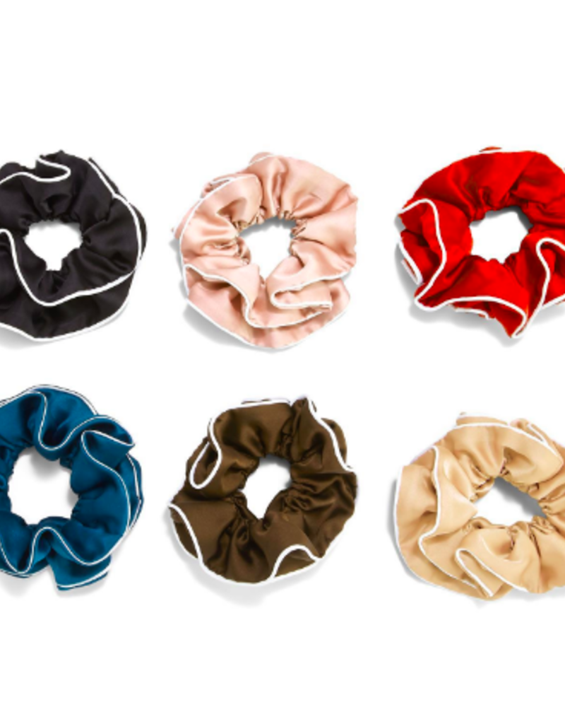 two's company piped scrunchie