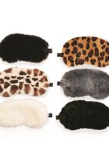 two's company faux fur eyemask in gift pouch