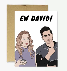 "party mountain paper co schitt's creek ""ew david"" funny card"