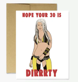 """party mountain paper co christina """"dirty 30"""" card"""