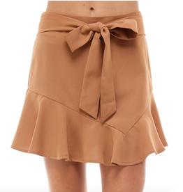 tcec asymmetrical ruffle hem skirt