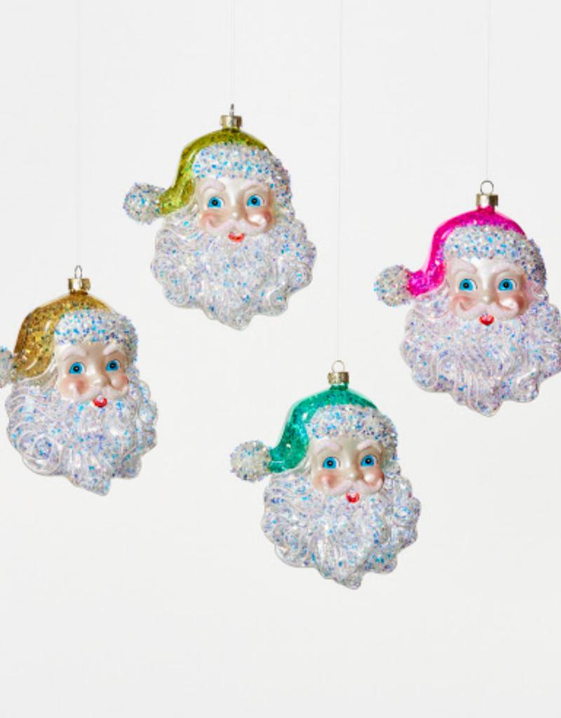 cheerful santa ornament