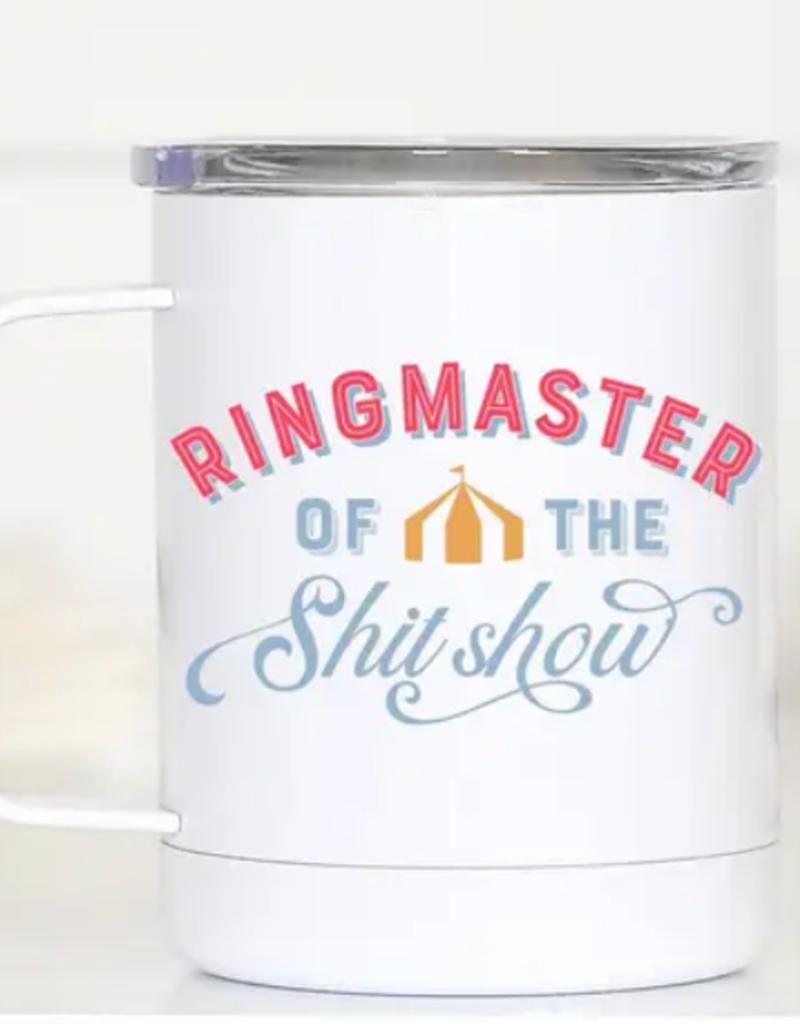 ringmaster of the shitshow travel mug