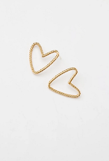heart front studs