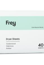 frey cedarwood/oakmoss/amber dryer sheets 40ct