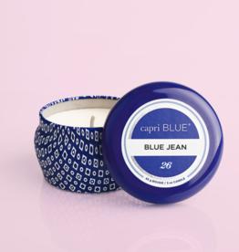 capri blue blue jean blue mini tin candle
