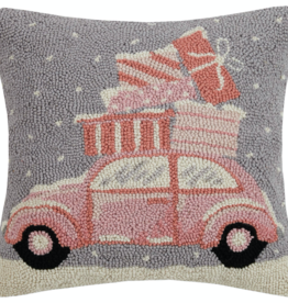 pastel christmas car pillow