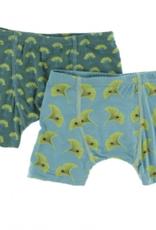kickee pants ivy mini trees and neptune gingko boxer briefs set