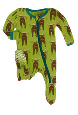 kickee pants meadow bad moose footie with zipper FINAL SALE