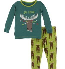 kickee pants meadow bad moose long sleeve pajama set FINAL SALE