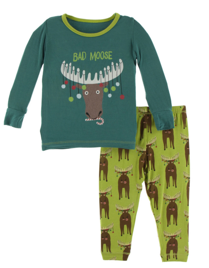 kickee pants meadow bad moose long sleeve pajama set