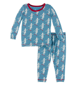 kickee pants blue moon ice skater long sleeve pajama set FINAL SALE