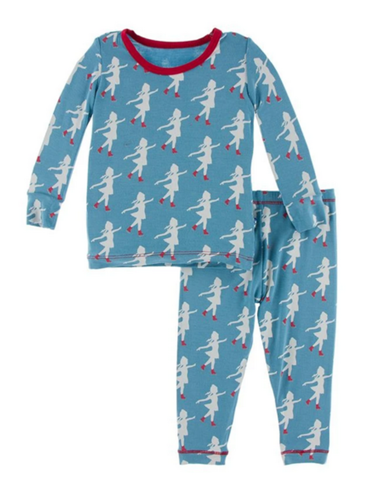 kickee pants blue moon ice skater long sleeve pajama set