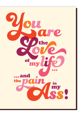 offensive and delightful love & pain card