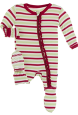 kickee pants candy cane stripe 2020 muffin ruffle footie