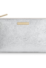 Katie Loxton mia makeup bag metallic silver